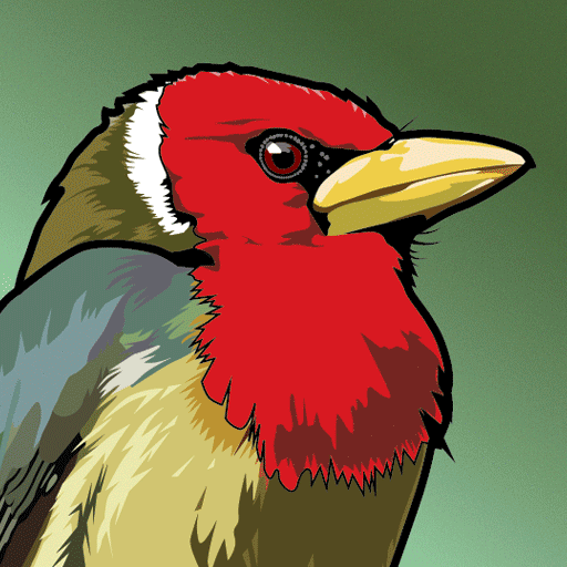BirdsEye SA icon Red-headed Barbet